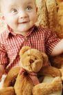 新生婴儿0110,新生婴儿,儿童教育,格子短袖 红色 布娃娃