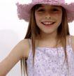 童趣0016,童趣,儿童教育,小明星 儿童装扮 小花帽 披发 美丽