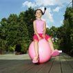 童趣0029,童趣,儿童教育,球体 麻花辫 蓝天