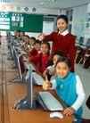 小学教育0034,小学教育,儿童教育,小学生 黑板 键盘