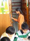 小学教育0037,小学教育,儿童教育,学习 阅览室 女生