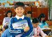 小学教育0058,小学教育,儿童教育,现代儿童 教室 双手抱书