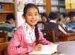 小学教育0068,小学教育,儿童教育,女孩 课本 辫子