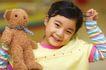 儿童玩耍0065,儿童玩耍,儿童教育,女孩 小熊 玩具