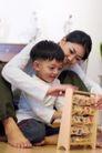 学前教育0061,学前教育,儿童教育,年轻 妈妈 孩子