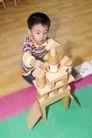 学前教育0062,学前教育,儿童教育,男孩 地板 积木