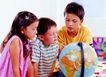 儿童表情0137,儿童表情,儿童教育,地球 探讨 严肃