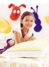 儿童表情0171,儿童表情,儿童教育,无邪的小脸 小辫子 紫色娃娃