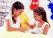 儿童表情0172,儿童表情,儿童教育,两个小朋友 一起玩耍 猜拳