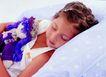 儿童表情0175,儿童表情,儿童教育,白色小背心 抱着娃娃 睡着了