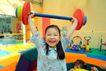 儿童启蒙0030,儿童启蒙,儿童教育,举重 锻炼 扛铃