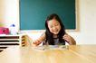 儿童启蒙0061,儿童启蒙,儿童教育,桌子 黑板 女孩