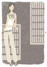 逛街购物0048,逛街购物,标题插画,女性插画