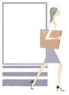 逛街购物0050,逛街购物,标题插画,去逛街