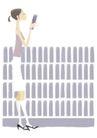 逛街购物0060,逛街购物,标题插画,
