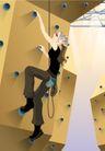 减肥瘦身0014,减肥瘦身,标题插画,攀登 人工 机关 按扭 安全绳