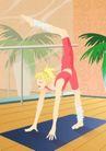 减肥瘦身0026,减肥瘦身,标题插画,室内运动 减肥 练习