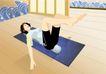 减肥瘦身0032,减肥瘦身,标题插画,减肥 运动 地板