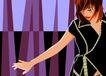 男女名媛0012,男女名媛,标题插画,概念 舞林大会 单薄 扬手 挥舞