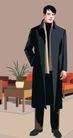 男女名媛0017,男女名媛,标题插画,男名媛 交际 风衣 大会 人民代表