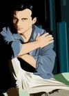 男女名媛0019,男女名媛,标题插画,男性 美男 宽阔 臂膀 潇洒
