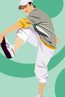 男女名媛0020,男女名媛,标题插画,抬腿 提脚 活力