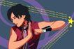 男女名媛0022,男女名媛,标题插画,护腕 武术 练习