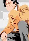 男女名媛0025,男女名媛,标题插画,经理 公司 服装