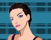 时尚女性0010,时尚女性,标题插画,眉眼 大眼睛 女模特 端庄 短发