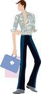 流行时男0006,流行时男,标题插画,完美 身段 摩登发行 长腿 男模特