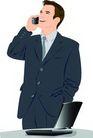 上班一族0186,上班一族,标题插画,笔记本 接电话 通讯工具