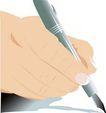上班一族0214,上班一族,标题插画,钢笔 书写