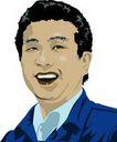 上班一族0222,上班一族,标题插画,笑脸 工厂技术工人