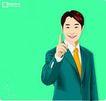 上班一族0228,上班一族,标题插画,手指 食指