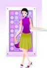 上班族情趣0209,上班族情趣,标题插画,舞步 舞裙 高跟鞋