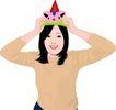 上班族情趣0211,上班族情趣,标题插画,帽子 妇女
