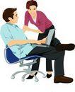 上班族情趣0214,上班族情趣,标题插画,上网 情侣 转椅