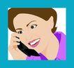 上班族情趣0220,上班族情趣,标题插画,听电话 联系