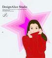 上班族情趣0223,上班族情趣,标题插画,红色毛衣