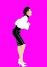 上班族情趣0226,上班族情趣,标题插画,短裙 弯腰