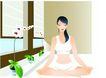 上班族情趣0229,上班族情趣,标题插画,瘦身运动 瑜伽