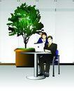 上班族情趣0245,上班族情趣,标题插画,办公室 合作 工作
