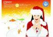 女性百态0178,女性百态,标题插画,圣诞到了 冰天雪地 圣诞装扮
