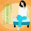 女性百态0183,女性百态,标题插画,坐着 休闲女孩