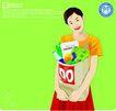 女性百态0200,女性百态,标题插画,家庭主妇  逛街   教育