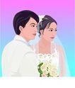 女性百态0204,女性百态,标题插画,婚纱 夫妻 结婚照