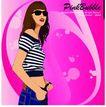 女性百态0208,女性百态,标题插画,墨镜 露脐装 手带