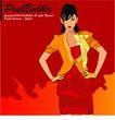 女性百态0216,女性百态,标题插画,叉腰 红裙