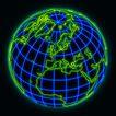全球视野0110,全球视野,未来科技,地球 有经纬线 绿色边纹