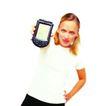 科技畅想0060,科技畅想,未来科技,金发女子 插腰 大手机